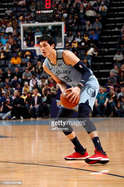 Yuta Watanabe of the Memphis Grizzlies looks to shoot the ball against the Los Angeles Lakers on February 29 2020 at FedExForum in Memphis Tennessee...