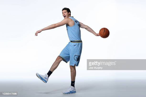 Yuta Watanabe of the Memphis Grizzlies poses for a portrait during Memphis Grizzlies Media Day on September 24 2018 at FedExForum in Memphis...
