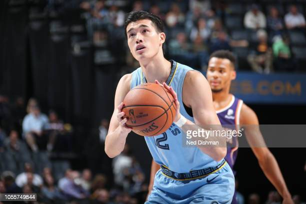 Yuta Watanabe of the Memphis Grizzlies shoots a foul shot against the Phoenix Suns on October 27 2018 at FedExForum in Memphis Tennessee NOTE TO USER...