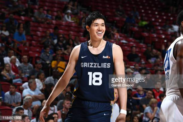 Yuta Watanabe of the Memphis Grizzlies smiles during the game against the LA Clippers during Day 3 of the 2019 Las Vegas Summer League on July 7 2019...