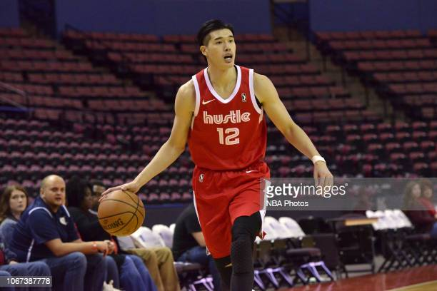 Yuta Watanabe of the Memphis Hustle controls the ball against the South Bay Lakers during an NBA GLeague game on December 1 2018 at Landers Center in...