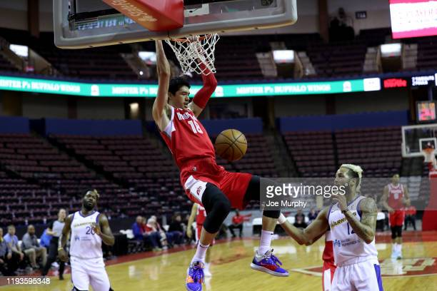 Yuta Watanabe of the Memphis Hustle dunks the ball against the Santa Cruz Warriors during an NBA GLeague game on January 13 2020 at Landers Center in...