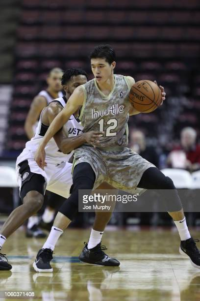 Yuta Watanabe of the Memphis Hustle handles the ball against the Austin Spurs on November 11 2018 at Landers Center in Southaven Mississippi NOTE TO...