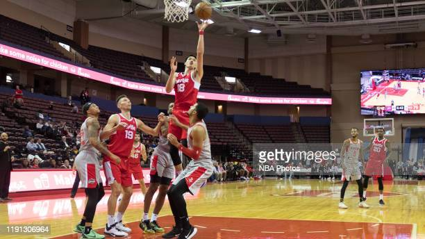 Yuta Watanabe of the Memphis Hustle lays up the ball against the Rio Grande Valley Vipers at The Landers Center on December 31 2019 in Memphis...
