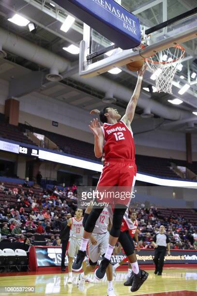 Yuta Watanabe of the Memphis Hustle shoots the ball agains the RIo Grande Valley Vipers during an NBA GLeague game on November 9 2018 at Landers...