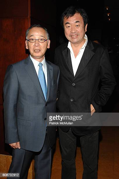Yutaka Mino and Kengo Kuma attend MANDARIN ORIENTAL HOTEL GROUP Party for the SOTHEBY'S Contemporary Asian Art Exhibition at The Mandarin Oriental on...
