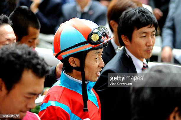 Yutaka Take at Longchamp racecourse on October 06 2013 in Paris France
