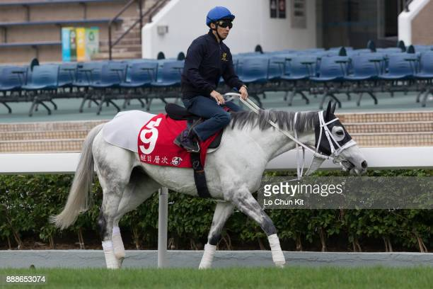 Yutaka Take riding Japanese runner Smart Layer during the LONGINES Hong Kong International Races Trackwork Session at Sha Tin racecourse on December...