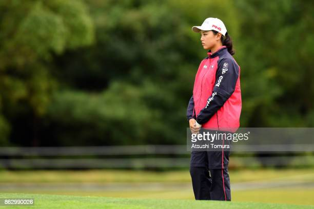 Yuting Seki of China looks on during the first round of the Nobuta Group Masters GC Ladies at the Masters Golf Club on October 19 2017 in Miki Hyogo...