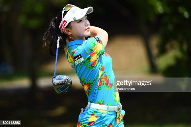 Yuting Seki of China looks on during the second round of the Earth Mondamin Cup at the Camellia Hills Country Club on June 23 2017 in Sodegaura Japan