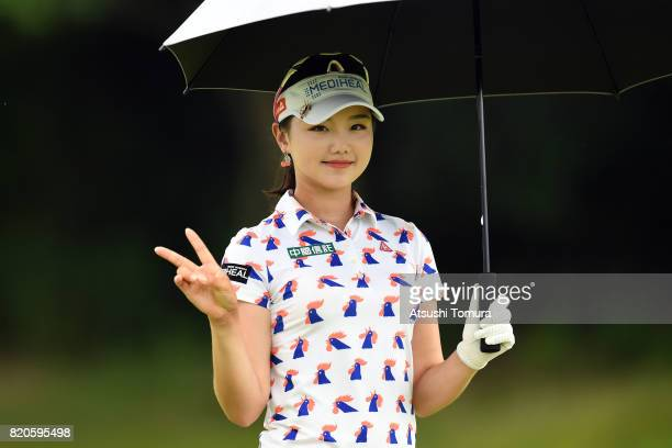 Yuting Seki of China poses during the second round of the Century 21 Ladies Golf Tournament 2017 at the Seta Golf Course on July 22 2017 in Otsu...