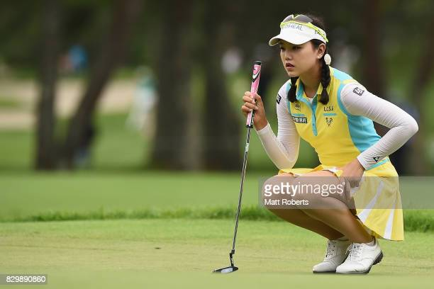 Yuting Seki of China prepares to putt on the 3rd green during the first round of the NEC Karuizawa 72 Golf Tournament 2017 at the Karuizawa 72 Golf...