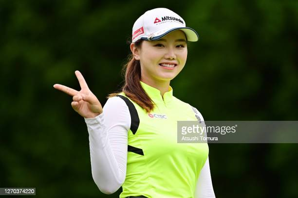 Yuting Seki of China smiles during the practice round ahead of the GOLF5 Ladies Tournament at the GOLF5 Country Mizunami Course on September 03, 2020...