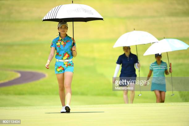 Yuting Seki of China walks during the second round of the Earth Mondamin Cup at the Camellia Hills Country Club on June 23 2017 in Sodegaura Japan