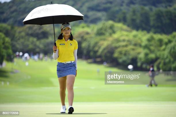 Yuting Seki of China walks during the third round of the Earth Mondamin Cup at the Camellia Hills Country Club on June 24 2017 in Sodegaura Japan