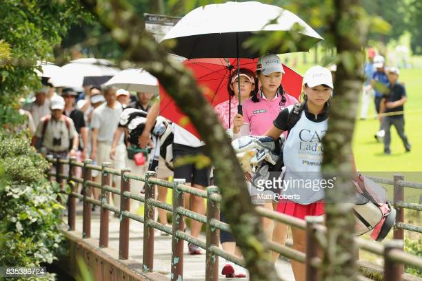 Yuting Seki of China walks to the 8th hole fairway during the second round of the CAT Ladies Golf Tournament HAKONE JAPAN 2017 at the Daihakone...