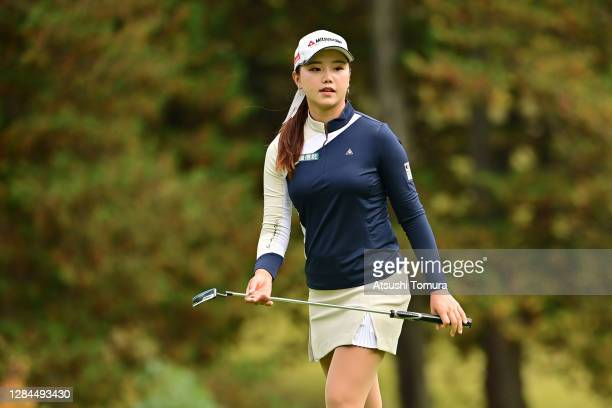 Yuting Seki of Japan is seen on the 17th green during the final round of the TOTO Japan Classic at the Taiheiyo Club Minori Course on November 8,...