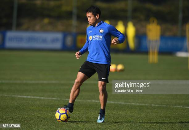 Yuto Nagatomo of FC Internazionale in action during the FC Internazionale training session at Suning Training Center at Appiano Gentile on November...