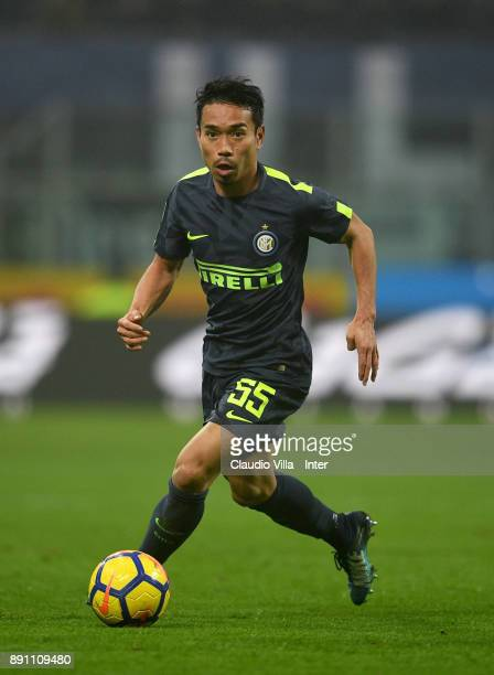 Yuto Nagatomo of FC Internazionale in action during the TIM Cup match between FC Internazionale and Pordenone at Stadio Giuseppe Meazza on December...