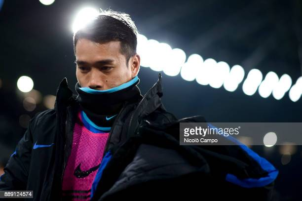 Yuto Nagatomo of FC Internazionale look on prior to the Serie A football match between Juventus FC and FC Internazionale The match ended in a 00 tie