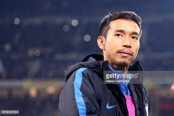 Yuto Nagatomo of FC Internazionale looks on before the Serie A match between FC Internazionale and Atalanta Bergamasca Calcio Fc Internazionale wins...