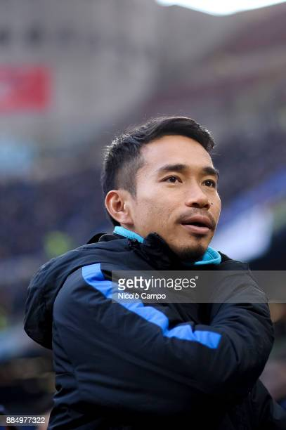 Yuto Nagatomo of FC Internazionale looks on prior to the Serie A football match between FC Internazionale and AC ChievoVerona FC Internazionale won...
