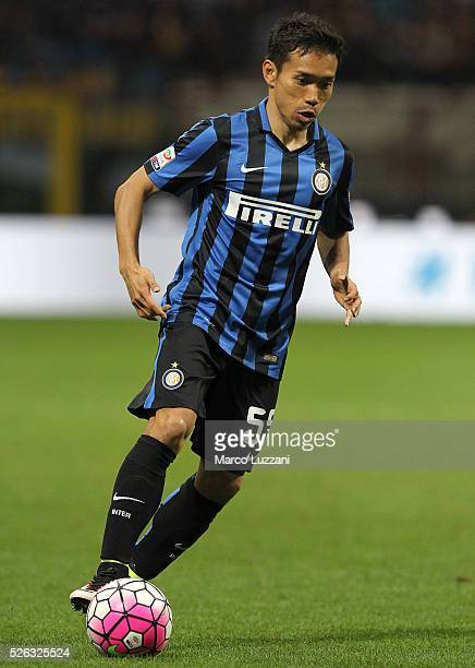 Yuto Nagatomo of FC Internazionale Milano in action during the Serie A match between FC Internazionale Milano and Udinese Calcio at Stadio Giuseppe...