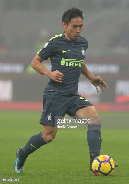 Yuto Nagatomo of FC Internazionale Milano in action during the TIM Cup match between FC Internazionale and Pordenone at Stadio Giuseppe Meazza on...