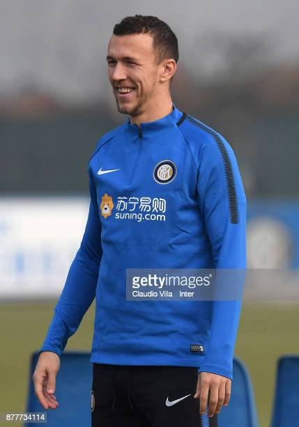 Yuto Nagatomo of FC Internazionale smiles during the FC Internazionale training session at Suning Training Center at Appiano Gentile on November 23...