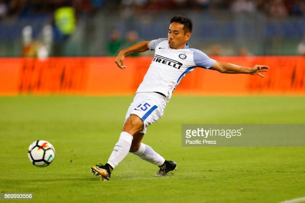 Yuto Nagatomo of Inter during the Italian Serie A soccer match against Roma in Rome Inter defeating Roma 31