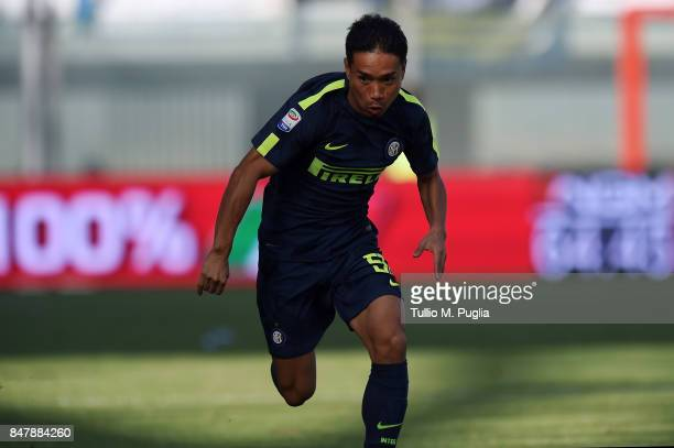 Yuto Nagatomo of Internazionale in action during the Serie A match between FC Crotone and FC Internazionale at Stadio Comunale Ezio Scida on...