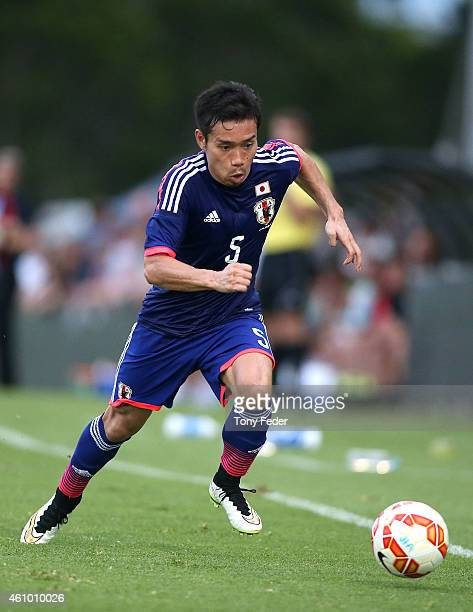 Yuto Nagatomo of Japan in action during the Asian Cup practice match between Japan and Auckland City on January 4 2015 in Cessnock Australia