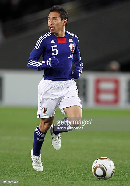 Yuto Nagatomo of Japan in action during the East Asian Football Championship 2010 match between Japan and China at Ajinomoto Stadium on February 6...