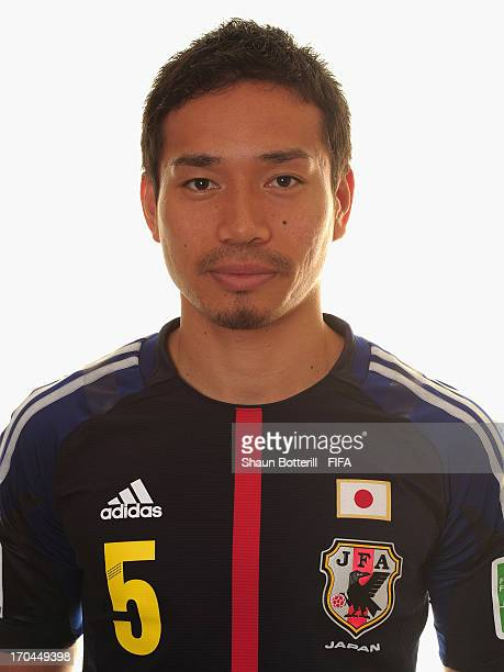 Yuto Nagatomo of Japan poses for a portrait at the Kubistchek Plaza Hotel on June 13 2013 in Brasilia Brazil