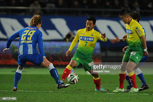 Yuto Sato of JEF United Chiba in action during the J1 Promotion PlayOff Final match between JEF United Chiba and Montedio Yamagata at Ajinomoto...