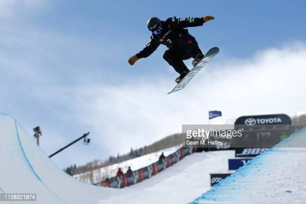 Yuto Totsuka of Japan competes in the Ladies' Snowboard Halfpipe Final at the FIS Snowboard World Championships on February 8 2019 at Park City...