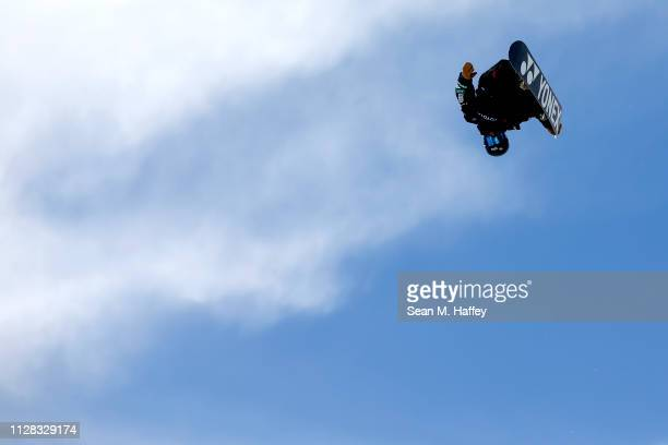Yuto Totsuka of Japan competes in the Men's Snowboard Halfpipe Final at the FIS Snowboard World Championships on February 8 2019 at Park City...