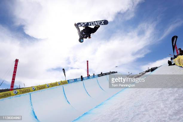 Yuto Totsuka of Japan competes in the Men's Snowboard Halfpipe Final of the FIS Snowboard World Championships on February 08 2019 at Park City...