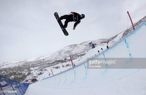 Yuto Totsuka of Japan competes in the Men's Snowboard Halfpipe Qualification of the FIS Snowboard World Championships on February 06 2019 at Park...
