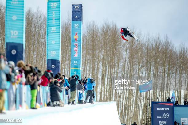 Yuto Totsuka of Japan during Men's Halfpipe finals of the 2019 Burton US Open Championships at Golden Peak on February 28 2019 in Vail Colorado