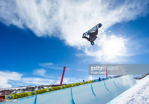 Yuto Totsuka of Japan during the Men's Snowboard Halfpipe Final during the FIS Snowboard World Championships on February 8 2019 at Park City Mountain...