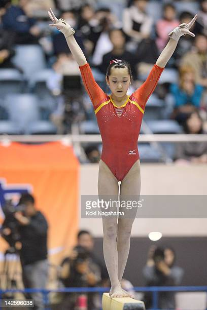 Yuumi Iizuka of Japan competes on the Balance Beam during day two of the 66th All Japan Artistic Gymnastics All Around Championships at Yoyogi...