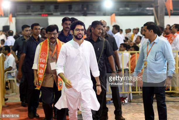 Shiv Sena Chairperson Uddhav Thackeray during the 52nd foundation day of Shiv Sena at Nesco Exhibition Centre Goregaon on June 19 2018 in Mumbai...