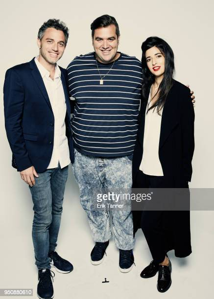 Yuval Shafferman Ben Yosipovich and Dana Idisis of the film On The Spectrum poses for a portrait during the 2018 Tribeca Film Festival at Spring...