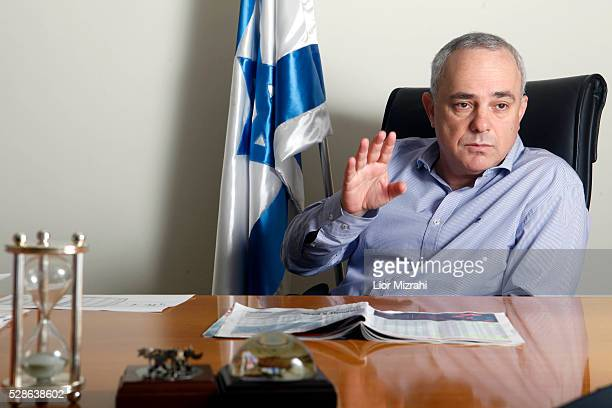 Yuval Steinitz, Israel's minister of finance, speaks during an interview in his office on November 14, 2012 in Jerusalem, Israel.