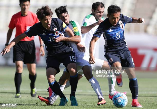 Yuya Osako of Japan and in action during the FIFA World Cup Russia Asian Final Qualifier match between Iraq and Japan at PAS Stadium on June 13 2017...