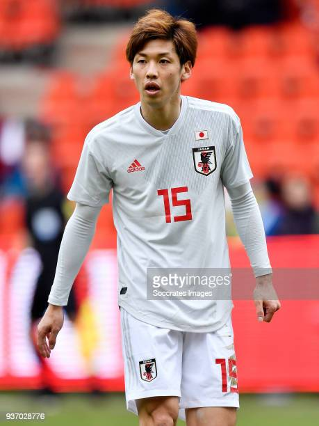 Yuya Osako of Japan during the International Friendly match between Japan v Mali at the Stade Maurice Dufrasne on March 23 2018 in Luik Belgium