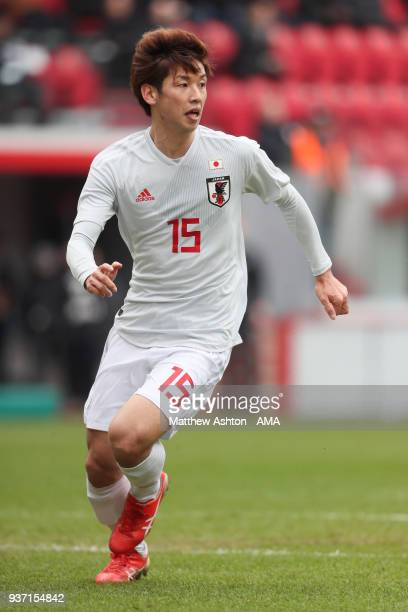 Yuya Osako of Japan during the International friendly match between Japan and Mali at the Stade de Sclessin on March 23 2018 in Liege Belgium