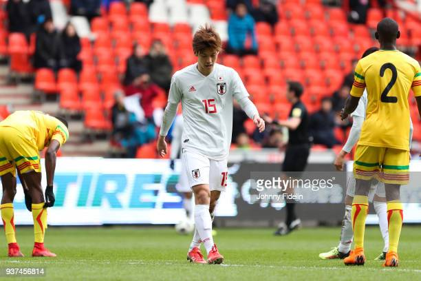 Yuya Osako of Japan during the International friendly match between Japan and Mali on March 23 2018 in Liege Belgium