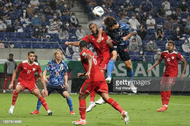 Yuya Osako of Japan in action during FIFA World Cup Asian Qualifier Final Round Group B match between Japan and Oman at Panasonic Stadium Suita on...